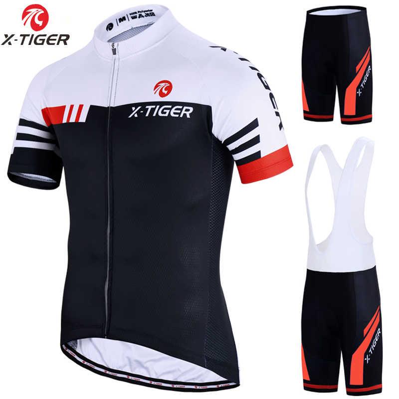 X-Tiger Fietsen Sets Bike Uniform Zomer Wielertrui Set Road Fiets Jerseys Mtb Fiets Dragen Ademend Fietsen Kleding