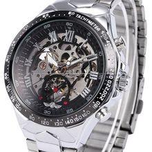 Men Automatic Skeleton Mechanical Watch Winner New Number Sp