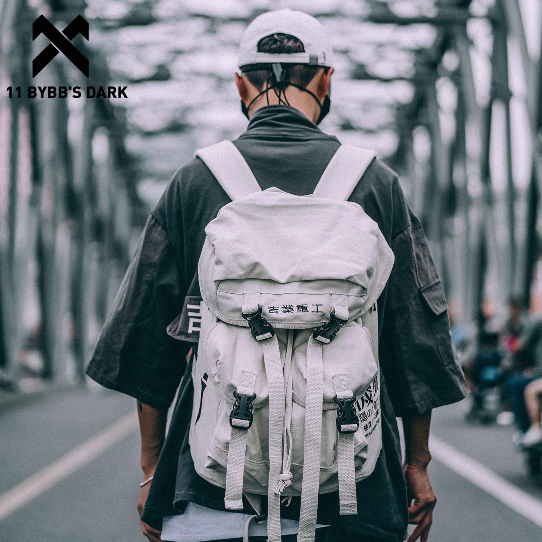 11 BYBB'S DARK Men Women Hasp Backpack 2019 Hip Hop Vintage Trend Korean Canvas Ribbon Streetwear Joker Harajuku Male Backpacks