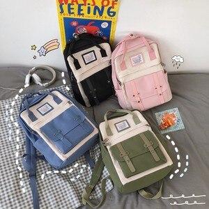 Image 1 - Nouvelle tendance femme sac à dos mode décontracté femmes sac à dos étanche en Nylon sacs décole adolescente sacs à bandoulière femme