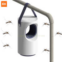 Original xiaomi casa inteligente repelente de mosquito fotocatalisador automático assassino mosquito baixo mudo azul mosquito lâmpada