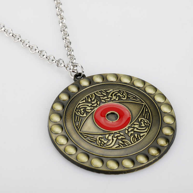 Docteur Strange Vintage collier oeil d'agamotto pendentif rond les Avengers Infinity War mode colliers cadeau bijoux accessoire