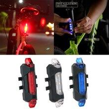 Luz de bicicleta impermeable luz trasera LED USB recargable bicicleta de montaña Luz de ciclismo Taillamp luz de advertencia de seguridad TSLM2