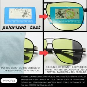 Image 5 - للجنسين الألومنيوم المغنيسيوم HD اللونية الاستقطاب النظارات الشمسية الرجال الأصفر يوم ليلة القيادة الذكور Oculos مكافحة وهج نظارات Gafas