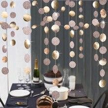 Decoración de boda 4M Estrella de oro y plata forma redonda guirnaldas de papel Baby Shower decoraciones para fiesta de cumpleaños niños suministros de Navidad