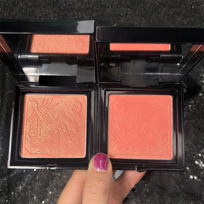 Retro Sculpture Soft Texture Blush Golden Flash Pearlescent Waterproof Easy Coloured Rouge Face Makeup