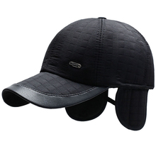 HT2714 Autumn Winter Caps for Men Adjustable Baseball Cap Thick Warm Male Earflap Baseball Hat Windproof Dad Hat with Ear Flap цены онлайн
