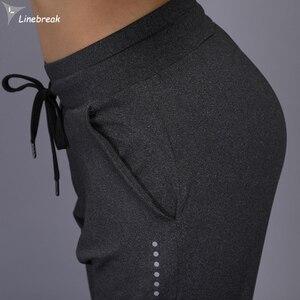 Image 5 - Calça harém feminina esportiva corrida, peça feminina moletom para academia treino yoga