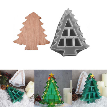 Christmas Tree Shaped Silicone Molds Crystal Epoxy Resin Mold Jewelry Storage Box Decorative Mould for DIY Craft Home Decoration