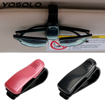 YOSOLO Car Glasses Case Clip Eyewear Ticket Card Clamp Fastener Cip Portable Car Sun Visor Sunglasses Holder Auto Accessories image