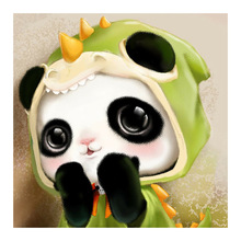 animal panda Moge Diamond Painting Full Round cartoon children New DIY sticking drill cross stitch 5D embroidery Toy decorative