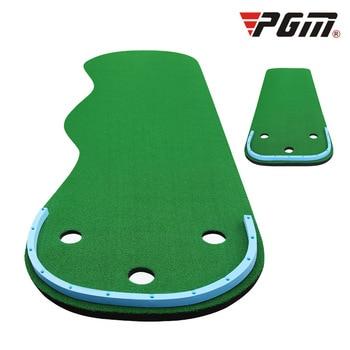 Portable Indoor Golf Put Trainer Golf Practice Blanket Artificial Grass Mini Golf Green Beginners Family Practicing Set