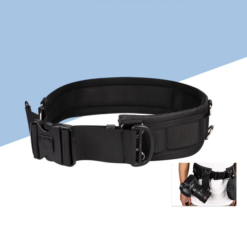 Multi-function Photography Adjustable Waist Strap Waistband Band With D-Rings For Hanging Tripod Camera Photography Outdoor Acce
