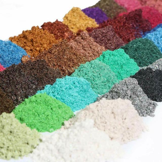 Lot Color DIY Powder Healthy Natural Mineral Mica Powder DIY Pigment Colorant Makeup Eyeshadow Soap Powder For Lips Make Up 5