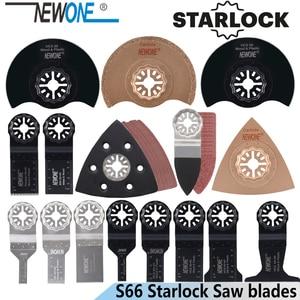 Image 1 - Новинка 66 шт. Осциллирующее лезвие Starlock набор лезвий для пилы подходит для многофункционального инструмента резка дерева пластика полировки керамической плитки удаление загрязнений