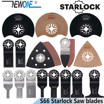 NEWONE 66pcs Starlock Blade Oscillating Tool Saw Blades Set Fit For Multi Tool Cut Wood Plastic Polish Ceramic Tile Remove Dirty