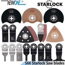 Newone 66 pçs starlock lâmina oscilante ferramenta viu lâminas conjunto apto para multi ferramenta de corte de madeira plástico polonês telha cerâmica remover sujo