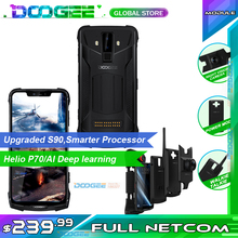 """Doogee S90 Pro téléphone portable robuste modulaire IP68 Helio P70 6.18 """"affichage Octa Core 6GB 128GB 16MP + 8MP Smartphone Android 9 2a 12v"""