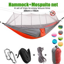 Ultralight Parachute Hammock Hunting Mosquito Net Double Person Sleeping Bed Drop Shipping Outdoor Camping Portable Hammock цена в Москве и Питере