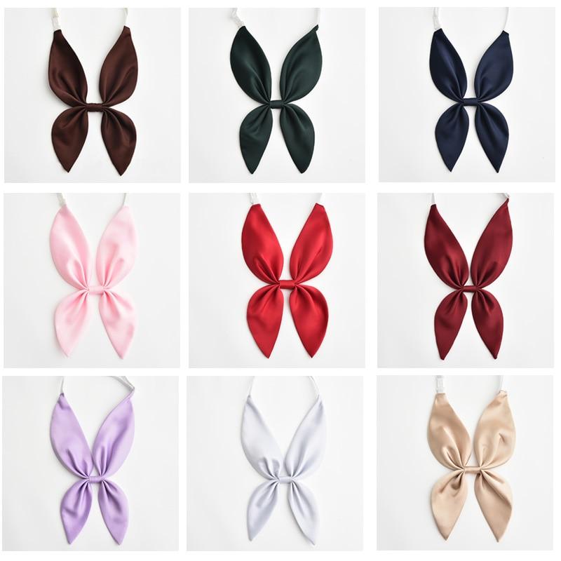 Solid Color School Uniform Bowknot Japanese School Girls Sailor Uniforms Bow Tie Students Necktie