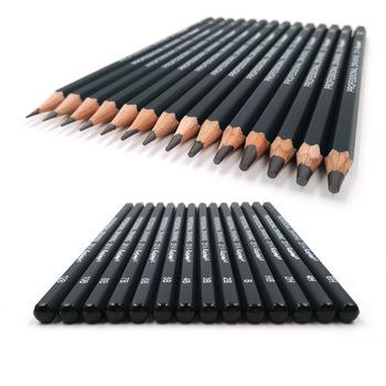 Nowy 14 sztuk zestaw zestaw ołówków drewniany profesjonalny atystyczny dostarcza twarde średnie miękkie szkic ołówki węglowe tanie i dobre opinie WOOD