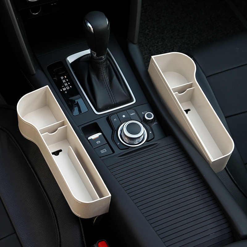 Samochód przerwa między siedzeniami luki schowek plastik ABS Auto Drink kieszenie organizatorzy uniwersalny rozmiar fotele wyposażenie wnętrz