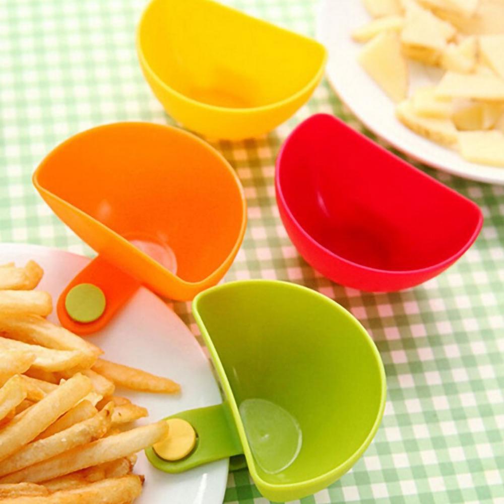 4 шт. в ассортименте, сахарница, салаты, томатная паста, блюда для соуса, кухонная чаша с зажимом, маленькая Зажимная тарелка для приправ, блюд...