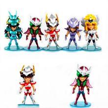 1 pçs anime saint seiya figuras de ação shiryu seiya hyoga anime modelo coleção presente do miúdo brinquedo