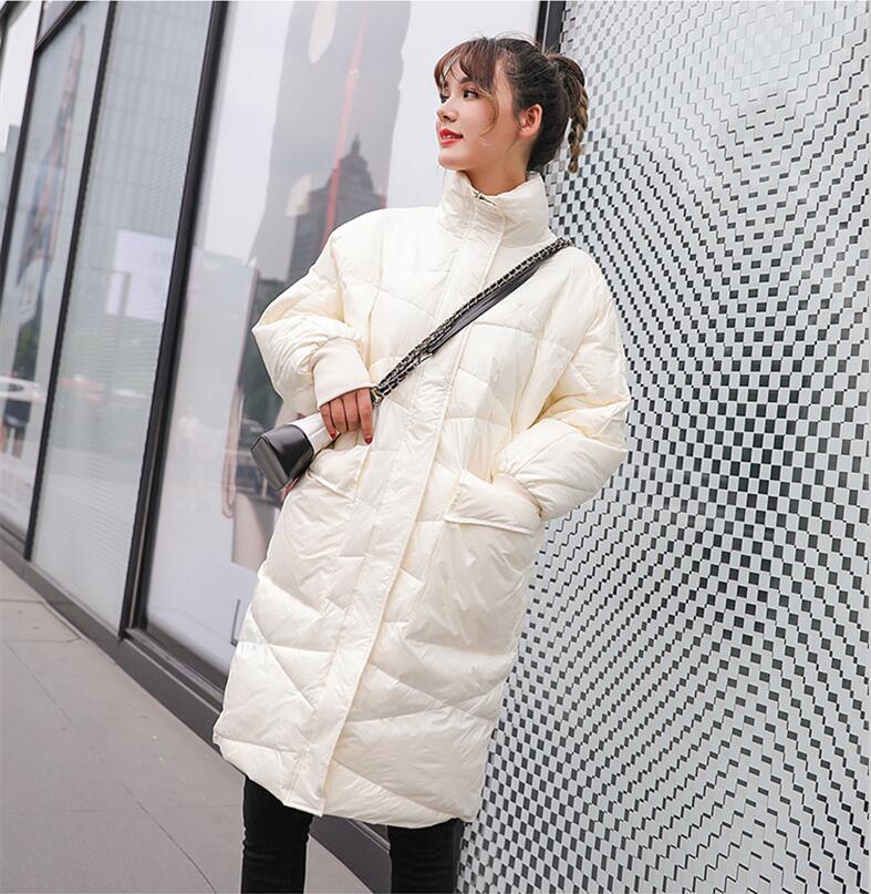 New Loose women's   down   jacket 2019 winter   down   jacket women   down     coat   long casual   down     coats   female