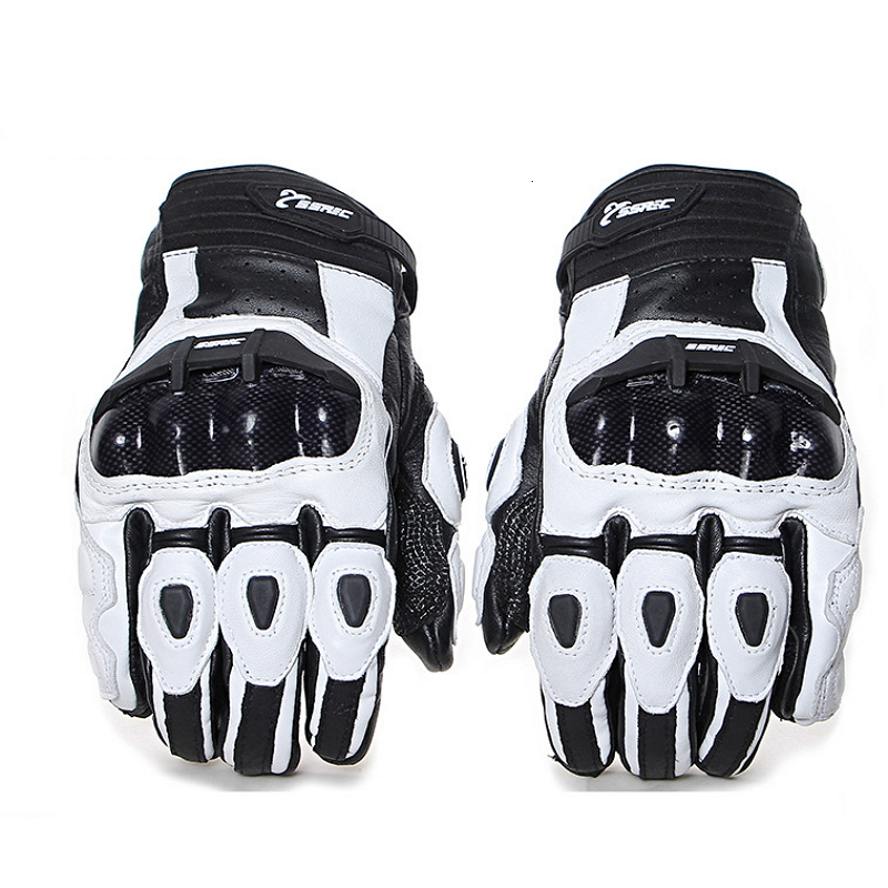 Motorcycle gloves Motocross Off-road Racing gloves breathable Leather Gloves Full Finger Carbon Fiber Riding Glove