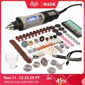Image 1 - HILDA Variable Speed Rotary Tool Electric Tools 400W Mini Drill 6 position for Dremel Rotary Tools mini grinding machine