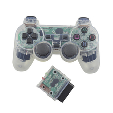 Transparent Color Controller For Sony PS2 Wireless Bluetooth Controller 2.4G Vibration Controle Gamepad for Playstation 2