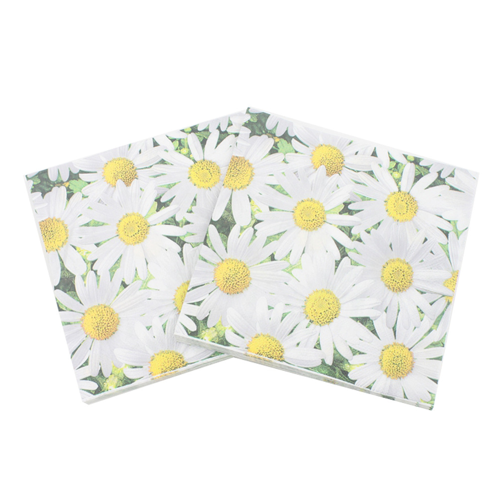 [Currently Available] Color Printed Napkin Daisy Kleenex Party Paper DIY Cross Border Hot Selling