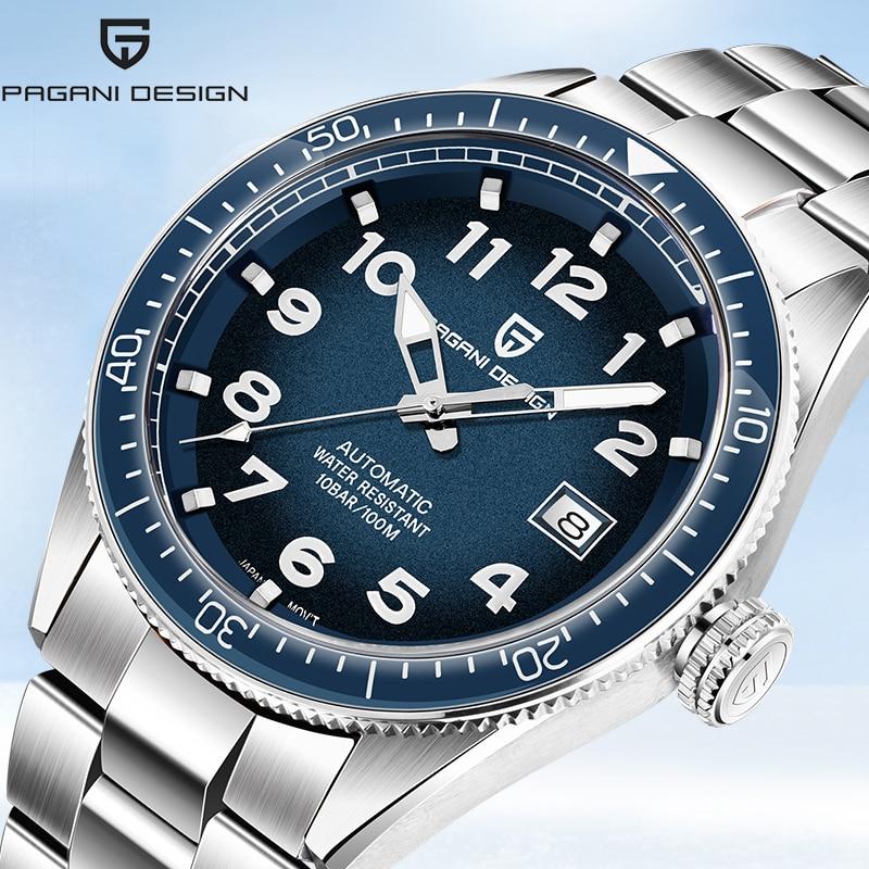 Mecânicos para Homens de Luxo Automático à Prova Relógio de Negócios Novo Design Pagani Relógios Relógio Dwaterproof Água Aço Masculino 2020