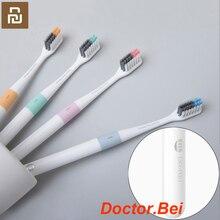 Youpin cepillo de dientes Doctor Bei con Mi Bass Method, alambre para cepillos mejor para cama, 4 colores, Incluye caja de viaje para casa inteligente