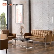 Высокое качество, современный кожаный цветной офисный домашний гостиной, зона приема, диван, журнальный столик, набор
