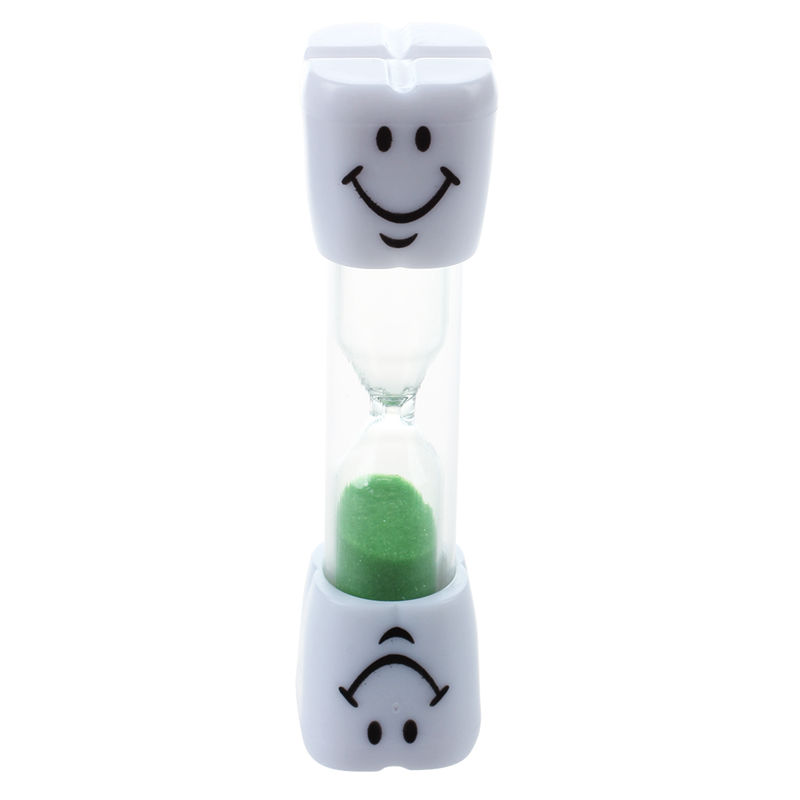 Big deal Childrens Toothbrush Timer Hourglass Kids Sandglass Smile Sand Egg 2 Minutes 1pcs (green 2 minutes) image