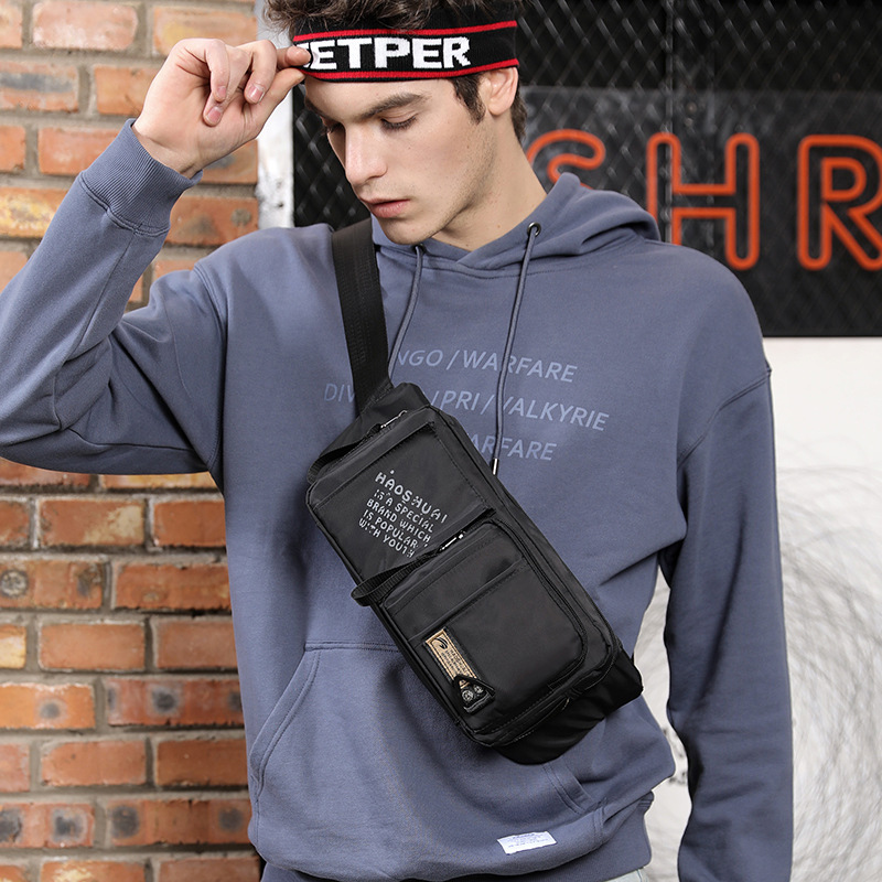 New Waterproof Nylon Waist Bag For Men Multi-function Anti-theft Belt Fanny Pack Trend Messenger Shoulder Bags Male Chest Pocket