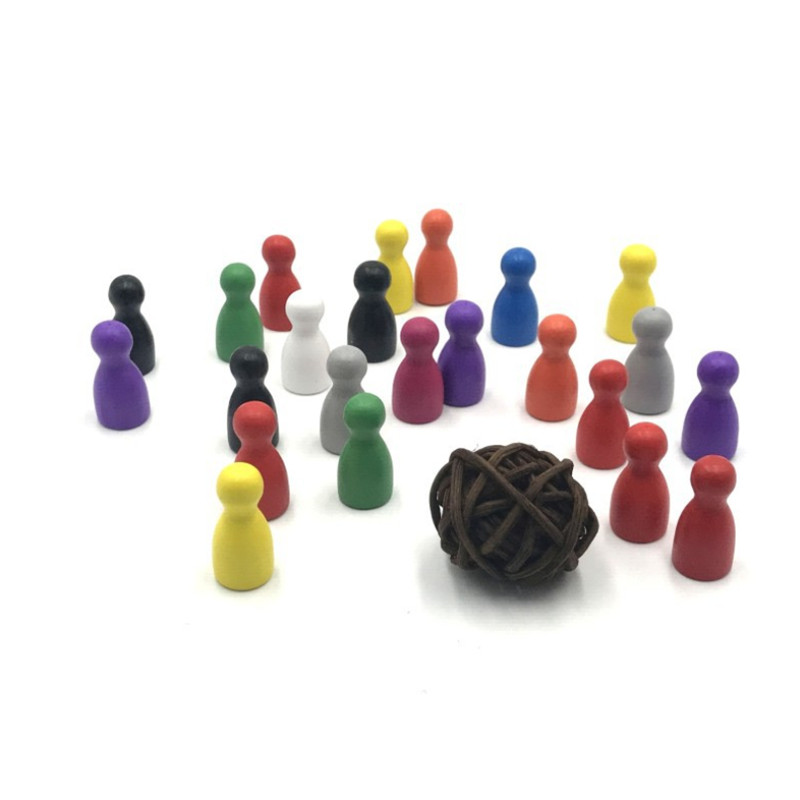 100 Pcs/Set 24*12mm Chess Pieces Board Games Accessories Marking Color Wooden Pieces