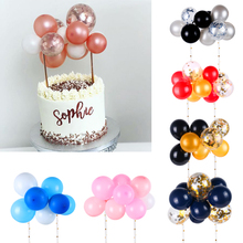10pcs/set Wedding Decoration Balloon Cake Topper Baby Shower Rose Gold Birthday Party Supplies