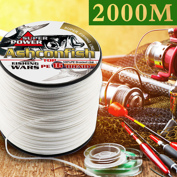 hollowcore braided fishing line 2000M resistant long line for sea Ocean Boat Fishing ice thread spliced 20LBS-500LBS tackle rope