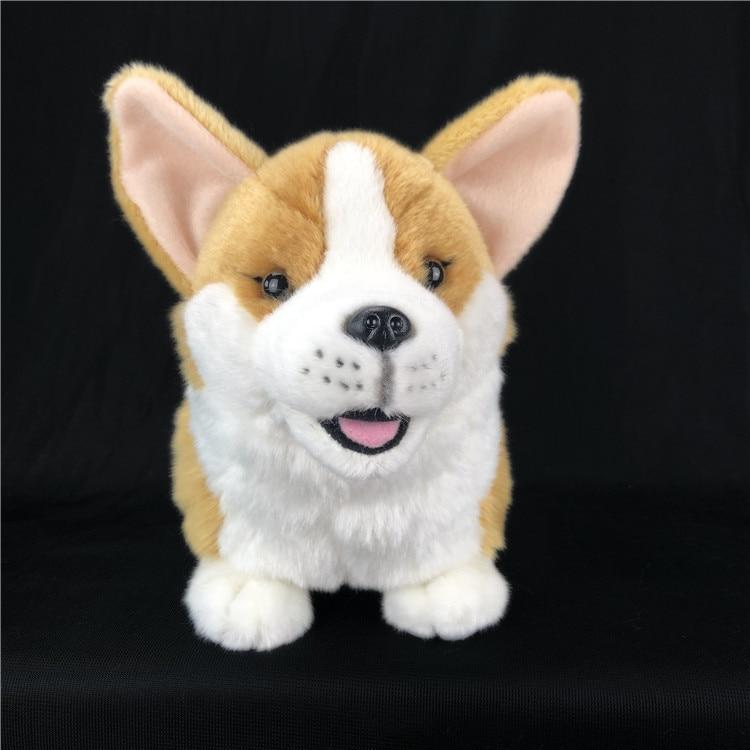 Jouet mignon de chien en peluche de simulation beau cadeau de poupée de chien de haute qualité environ 35cm