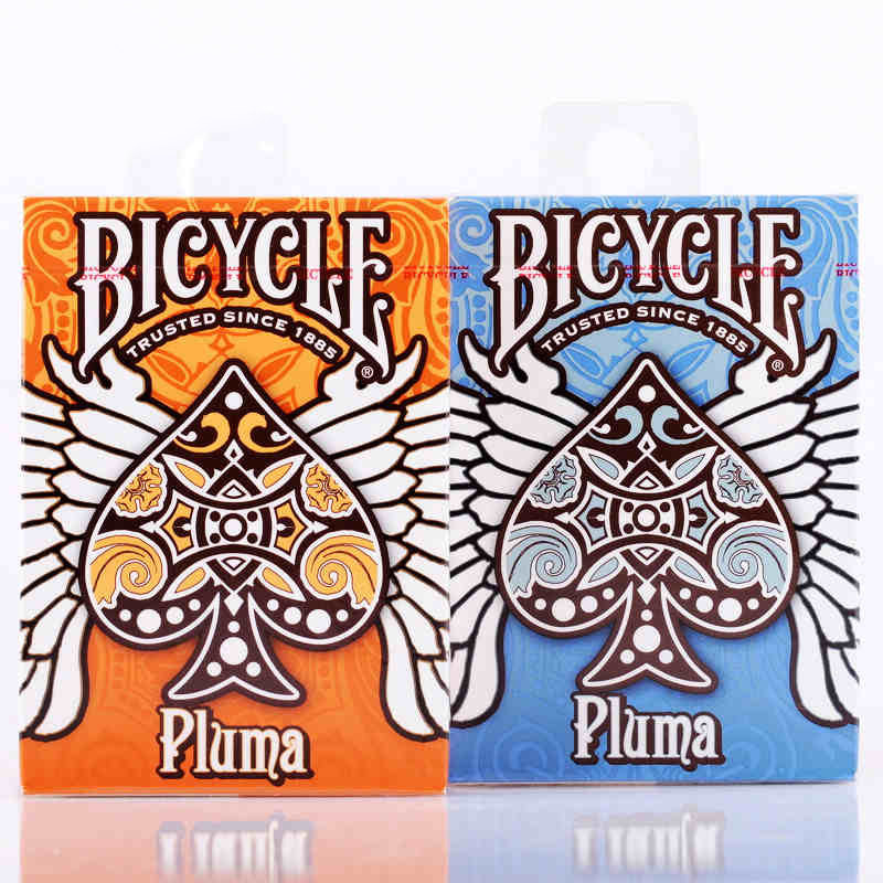 bicycle-pluma-cards-orange-blue-deck-playing-cards-standard-font-b-poker-b-font-magic-cards-magic-tricks-props-for-professional-magician