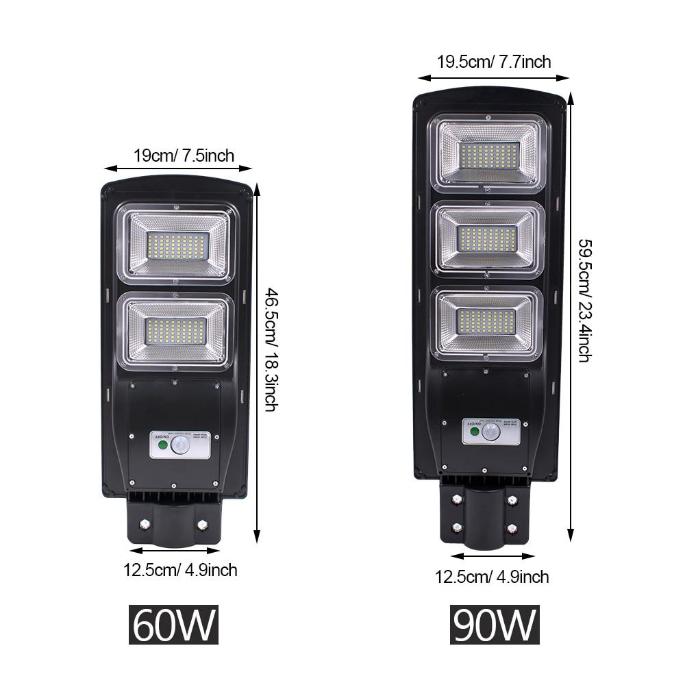 60W 120 LED Solare Luce Esterna Luce Solare del Sensore di Movimento Della Lampada Della Luce Della Parete Impermeabile Solar Powered Luce Del Sole per Porta del Giardino yard Decor - 3