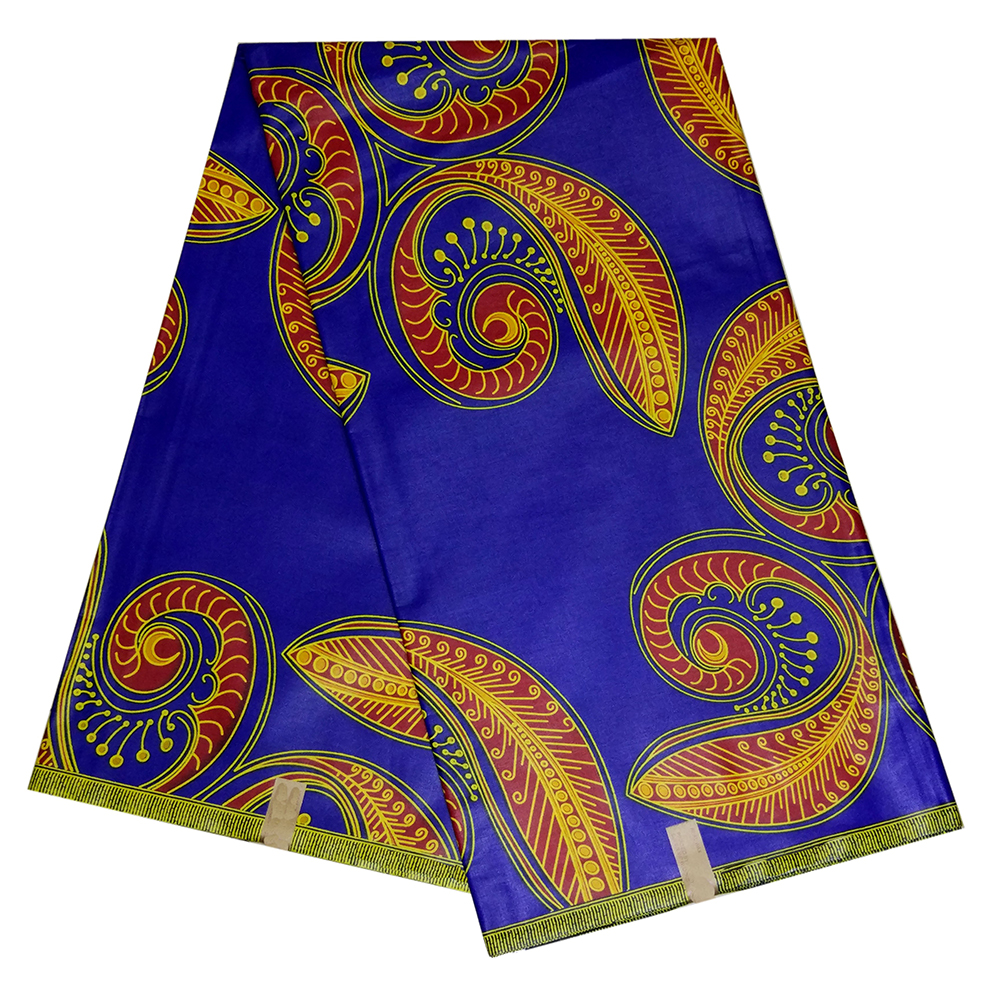Ankara Guaranteed Real Dutch Wax Fabric High Quality African Cotton Wax Prints Fabric 6 Yards