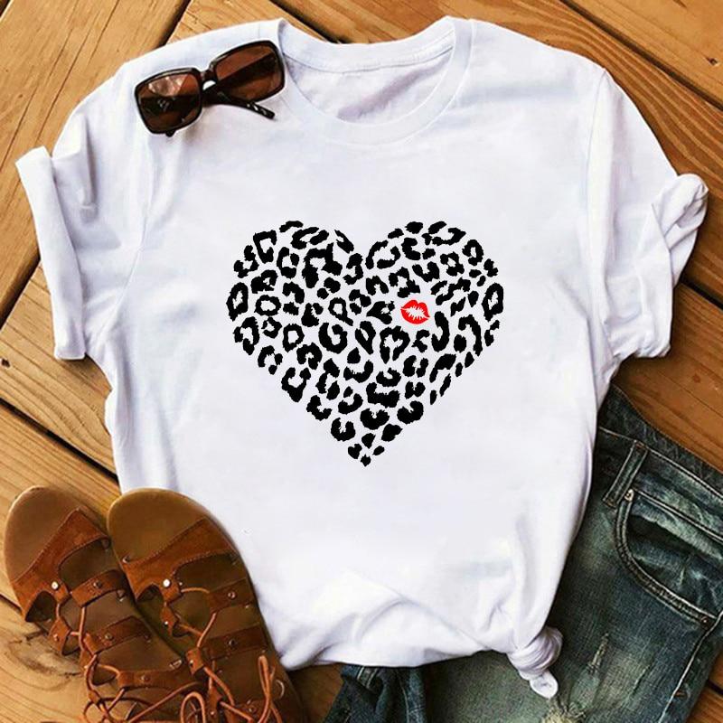 Maycaur-Women-T-Shirt-Lip-Leopard-Heart-Print-T-Shirt-Women-Summer-Casual-White-Tops-Loose