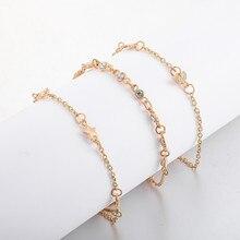 Модный, новые модели, простой комплект из 3 предметов, браслет, ювелирные изделия, звезда, Луна, Комбинированный браслет, ювелирное изделие, 50