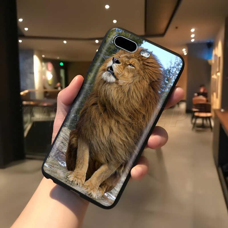 Webbedeppライオンアルファ男性appleのiphone 5 11プロxs最大xr × 8 7 6 6sプラス5 5s、se