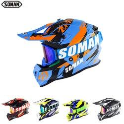 SOMAN Casque Motocross Off Road Casco Abs Motor Cycle Helmet Dirt Bike Moto Casque Casco De Motocicleta Motorsiklet Kask Cascos