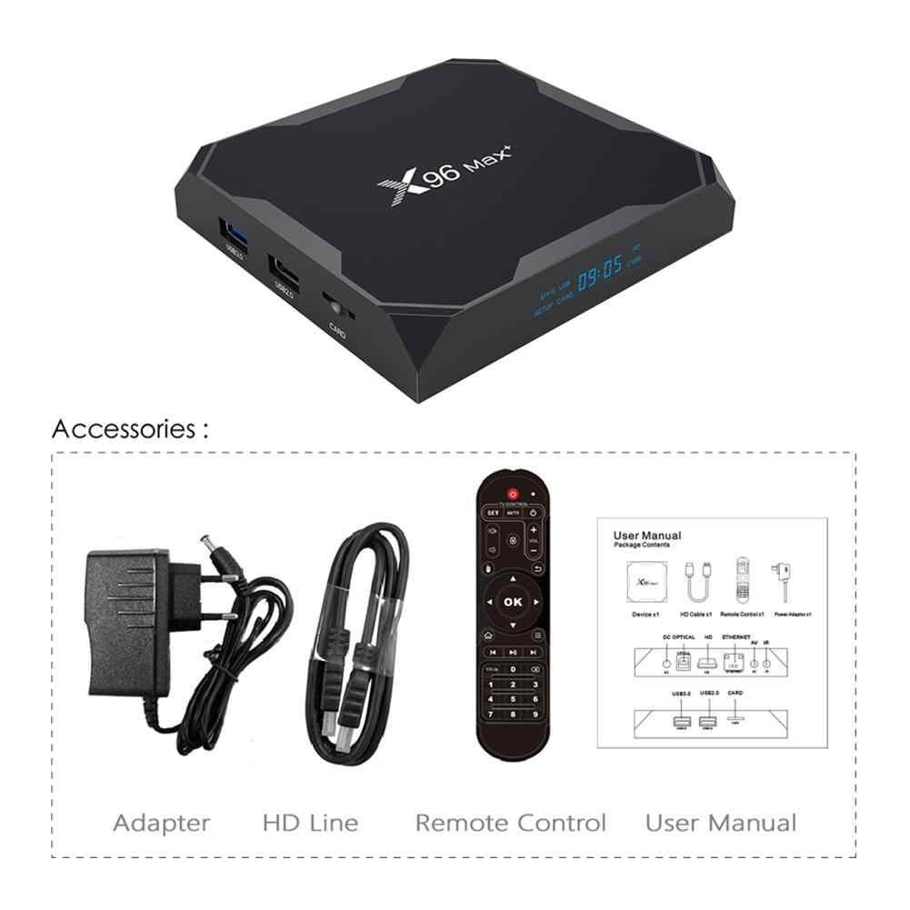 X96Max TV Box Android 9.0 Amlogic S905X3 Quad Core 4GB 32GB 64GB WIFI Bt 1000M 4K Set Top Box X96 Max X3 Media Player